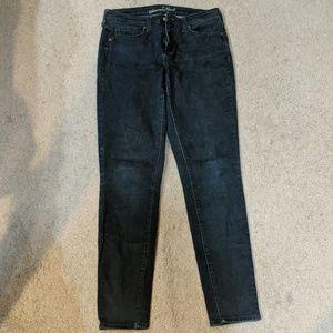 High rise skinny dark wash jeans